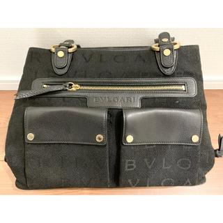 BVLGARI - 美品 BVLGARI  ブルガリ ロゴマニア ハンドバッグ