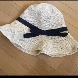 トゥモローランド(TOMORROWLAND)の帽子 日除け 麦わら帽子(ハット)