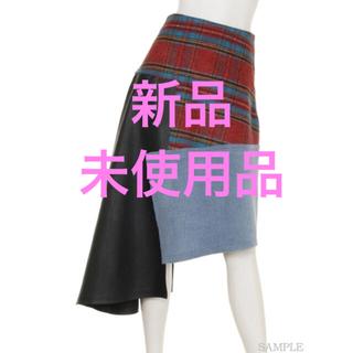 リルリリー(lilLilly)の【美品】リルリリー アシメスカート(ひざ丈スカート)