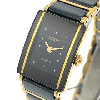 ラドー(RADO)のラドー 153.0283.3N ダイヤスター レディース腕時計 ブラック(腕時計)