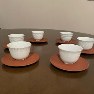 マイセン(MEISSEN)のマイセン白磁 茶器6客セット(グラス/カップ)