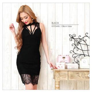 エンジェルアール(AngelR)のキャバドレス ドレス 黒 レディース フォーマル(ミニドレス)