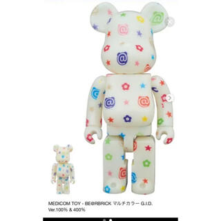 MEDICOM TOY - BE@RBRICK MULTICOLOR GID Ver 400 %100%