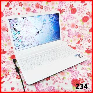 エヌイーシー(NEC)のノートPC♪Corei5♪新品SSD♪オフィス♪初心者も安心♪Windows10(ノートPC)