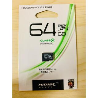 microSDHC64GB (HI-DISC)ハイディスク【 新品·送料無料】