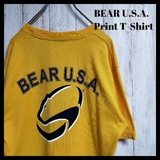 ベアー(Bear USA)のベアー Bear USA ロゴ Tシャツ イエロー(Tシャツ/カットソー(半袖/袖なし))