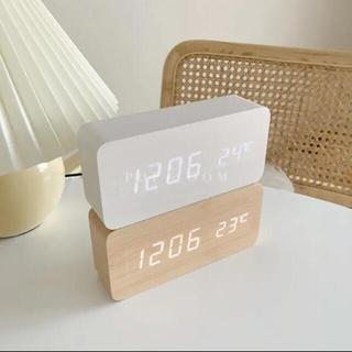 ウッドデジタルロック 時計