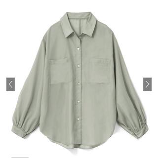 GRL - グレイル ボイルオーバーシアーシャツ  グリーン