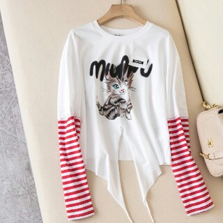 miumiu - 【MiuMiu】ログ入りTシャツ