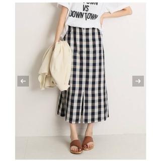 イエナスローブ(IENA SLOBE)のSLOBE IENA リネン混セミタイトスカート(ロングスカート)
