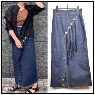 ロンハーマン(Ron Herman)の3.6万◆ 5-knot/ファイブノット I-Line DENIM Skirt(ロングスカート)