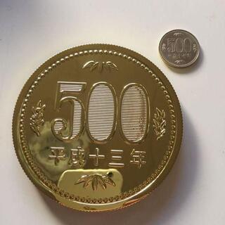 ジャンボコイン 500円玉 ゴールド マグネット付き 1枚(トランプ/UNO)