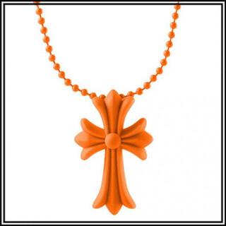 クロス ラバーネックレス 十字架 シリコン ノーブランド オレンジ 33A F