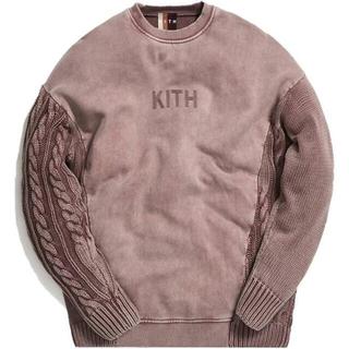Supreme - Kith Combo Knit Crewneck Cinder / XL