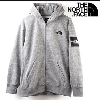 THE NORTH FACE - THE NORTH FACE スクエアロゴフルジップ パーカー 新品 グレー L