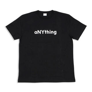 エニシング(aNYthing)のaNYthing LABEL LOGO TEE (BLACK)☆(Tシャツ/カットソー(半袖/袖なし))