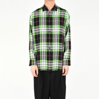 LAD MUSICIAN - 【新品】ラッドミュージシャン 42 チェックシャツ 緑 定価31,900円
