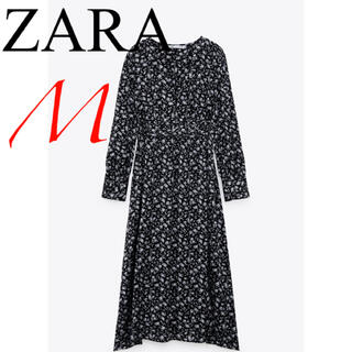 ZARA - 新品 ザラ 花柄 サテン ワンピース