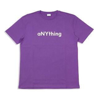 エニシング(aNYthing)のaNYthing LABEL LOGO TEE (PURPLE)☆(Tシャツ/カットソー(半袖/袖なし))