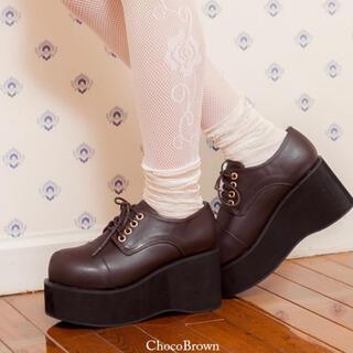 ユメテンボウ(夢展望)の未使用 おでこ靴 厚底パンプス(ハイヒール/パンプス)