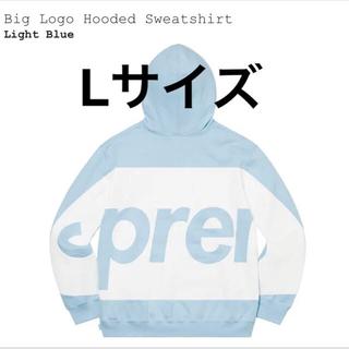 Supreme - supreme big logo hooded sweatshirt Lサイズ