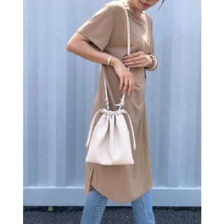 Ameri VINTAGE - 2wayレザー調巾着バッグ アイボリー美品 nokcha Dholic IENA