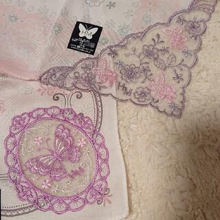 ハナエモリ(HANAE MORI)の《未使用》HANAE MORI レース 刺繍 ハンカチセット(ハンカチ)
