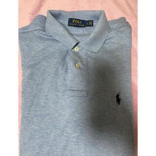 【ラルフローレン】ワンポイント ロゴ刺繍 Tシャツ ポロシャツ 水色 半袖
