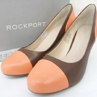 ROCKPORT - ★ROCKPORT★未使用に近い★オレンジ×ブラウン★パンプス★23.5cm★