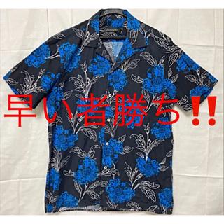 ZARA - 【人気】ZARA ザラ アロハシャツ オープンシャツ 開襟シャツ 花柄 古着