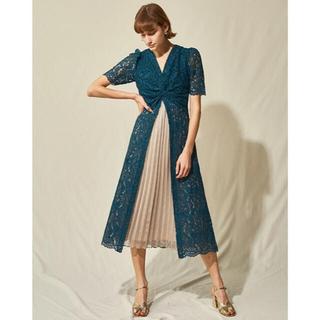 Lily Brown - リリーブラウン ツイストデザインワンピース お呼ばれドレス