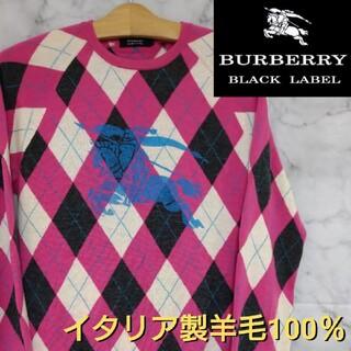 BURBERRY BLACK LABEL - 【人気・レア物】BURBERRY BLACK LABEL ニット/セーター 羊毛