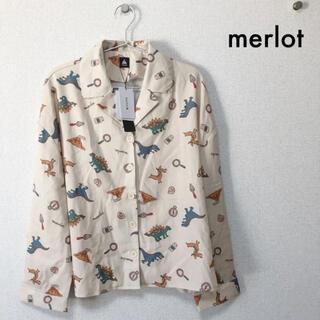 merlot - 【merlot】恐竜シャツ