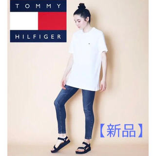 TOMMY HILFIGER - 【新品】人気 刺繍ロゴ Tommy トミー フィルフィガー 白t  tシャツ