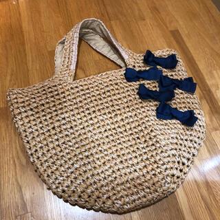 ローラアシュレイ(LAURA ASHLEY)のLAULA ASHLEY ハンドバッグ 編み込みバック(ハンドバッグ)
