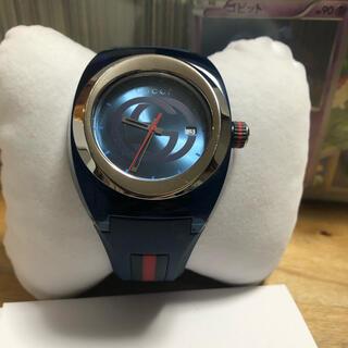 グッチ(Gucci)の最終値下げ GUCCI SYNC メンズ'時計ブルー(ラバーベルト)