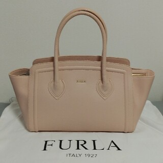 Furla - 【極美品】FURLA フルラ レザートートバッグ カレッジ ピンクベージュ