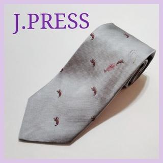 J.PRESS - ジェイプレス ネクタイ JPRESS メンズ スーツ シャツ オンワード エビ
