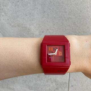 ベビージー(Baby-G)のカシオ BabyG 赤(腕時計(アナログ))