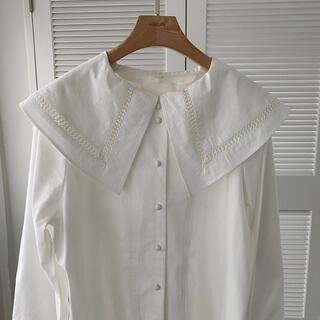 トゥデイフル(TODAYFUL)のwill flly♡removable large collar blouse(シャツ/ブラウス(長袖/七分))
