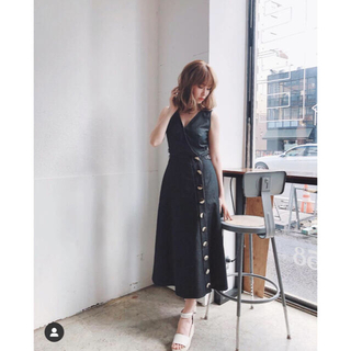 Herlipto Tencel Denim Long Dress Black