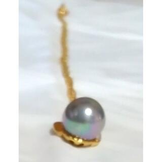 本真珠ネックレス、保証書つき、昭和レトロ、1cm.以上の大きさです、