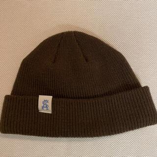 ユナイテッドアローズ(UNITED ARROWS)のユナイテッドアローズ ニット帽 茶色 新品試着のみ(ニット帽/ビーニー)