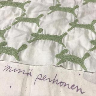 mina perhonen - ミナペルホネン  run run run 刺繍 ホワイト×グリーン