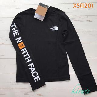 THE NORTH FACE - 海外限定★ノースフェイス  スリーブロゴ ロンT  XS/120 長袖Tシャツ