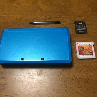 ニンテンドー3DS - Nintendo 3ds 水色 SDカード4GB タッチペン 妖怪三国志3ds