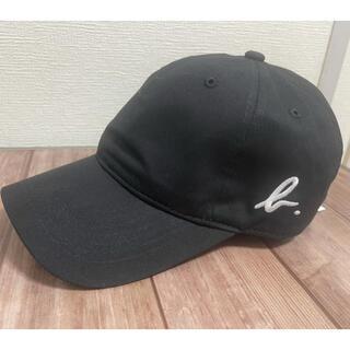 アニエスベー(agnes b.)の新品 アニエスべー 横ロゴキャップ 帽子 黒 ブラック(キャップ)