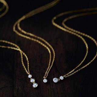 agete - アガット  ダイヤ 2連ネックレス