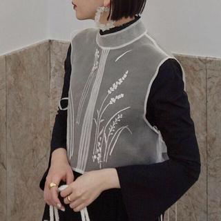 mame - 完売品♡21SSMame Floral Jacquard Sheer Vest