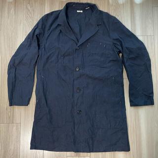 フィグベル(PHIGVEL)のphigvel prod 限定 linen coat コート 40 インディゴ(ステンカラーコート)
